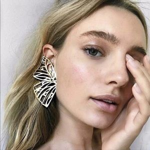 Jewelry - Butterfly half earrings in gold or silver Boho NEW